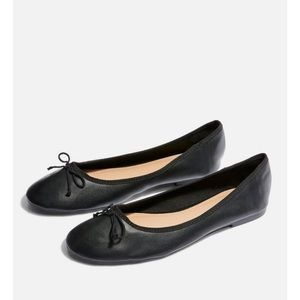 Topshop Black Verity Ballet Bow Flats size 39